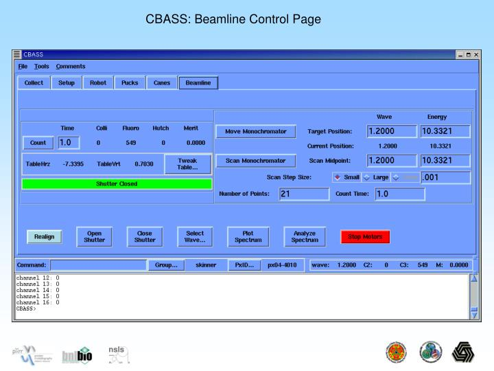 CBASS: Beamline Control Page