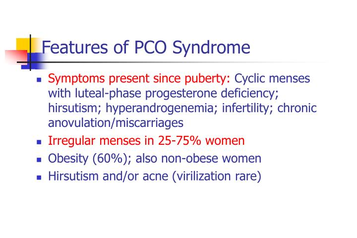 Features of PCO Syndrome