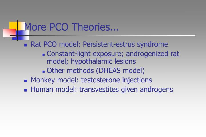 More PCO Theories...