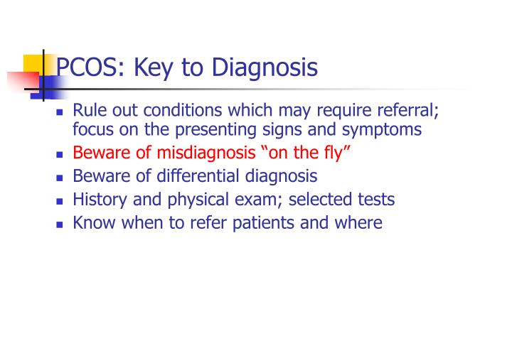 PCOS: Key to Diagnosis