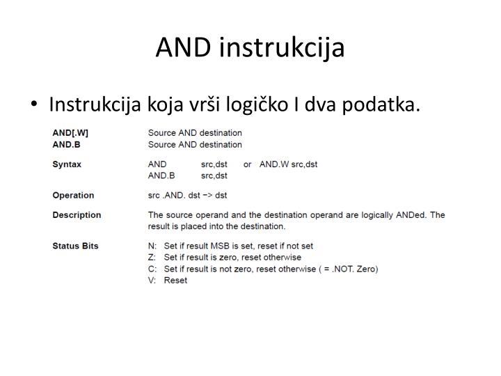 AND instrukcija