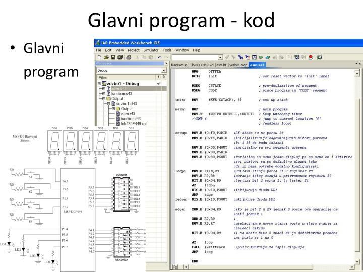 Glavni program - kod