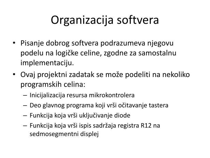 Organizacija softvera