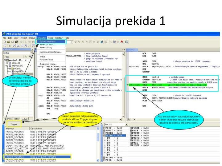 Simulacija prekida 1