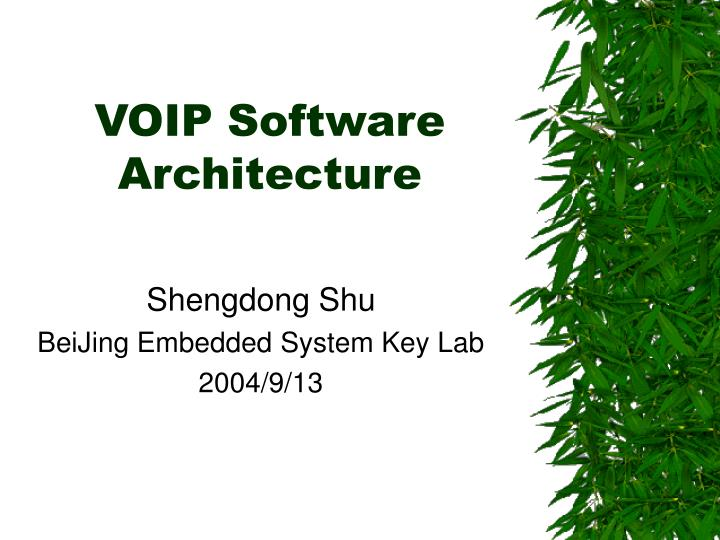 voip software architecture n.