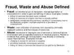 fraud waste and abuse defined
