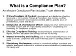 what is a compliance plan