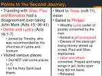 points in the second journey 1