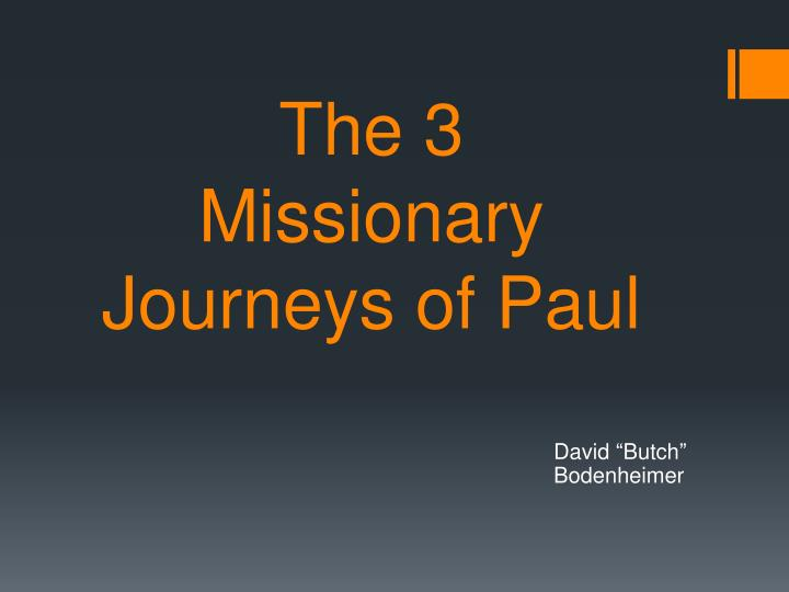 the 3 missionary journeys of paul n.