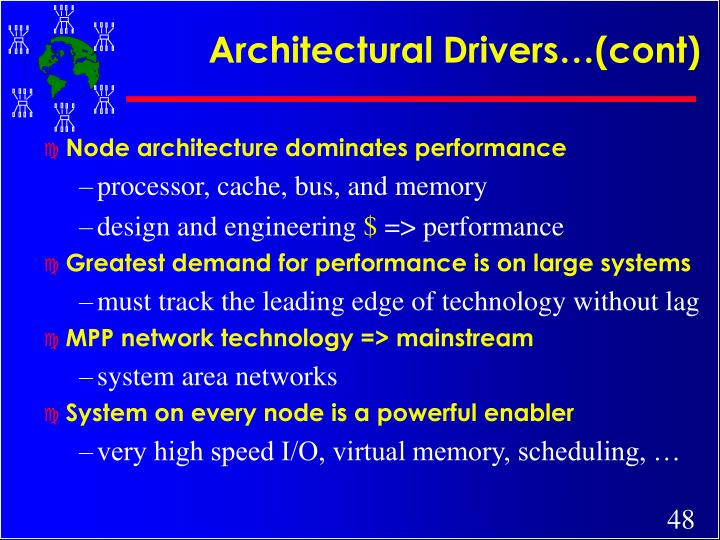Architectural Drivers…(cont)