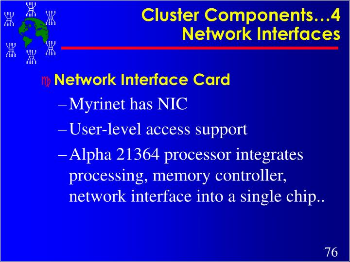 Cluster Components…4