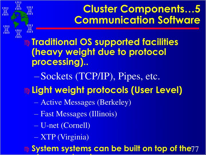 Cluster Components…5 Communication Software