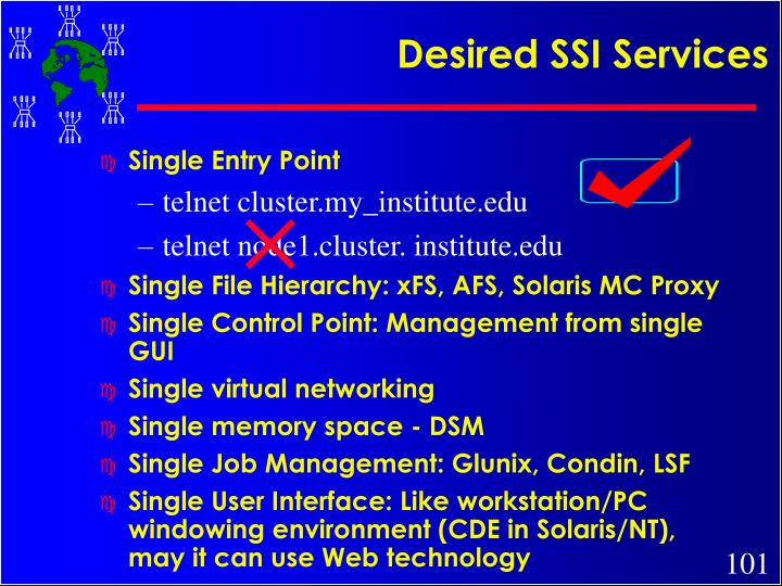 Desired SSI Services