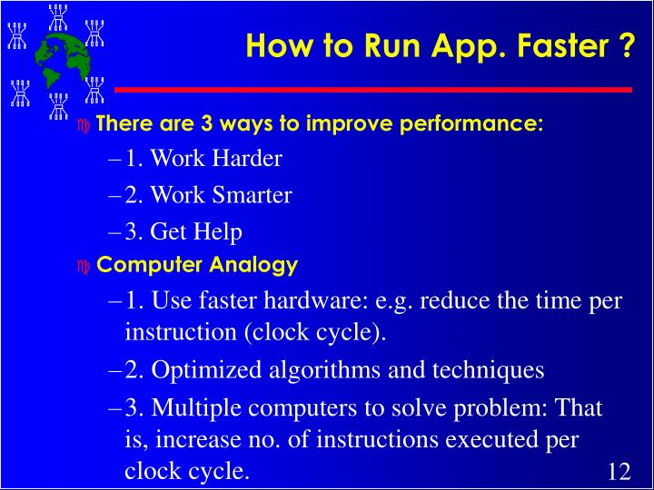 How to Run App. Faster ?