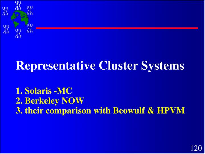 Representative Cluster Systems