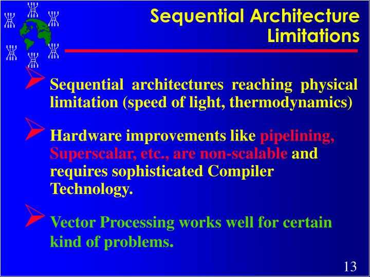 Sequential Architecture Limitations