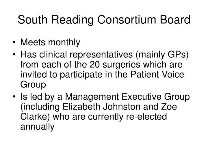 South reading consortium board