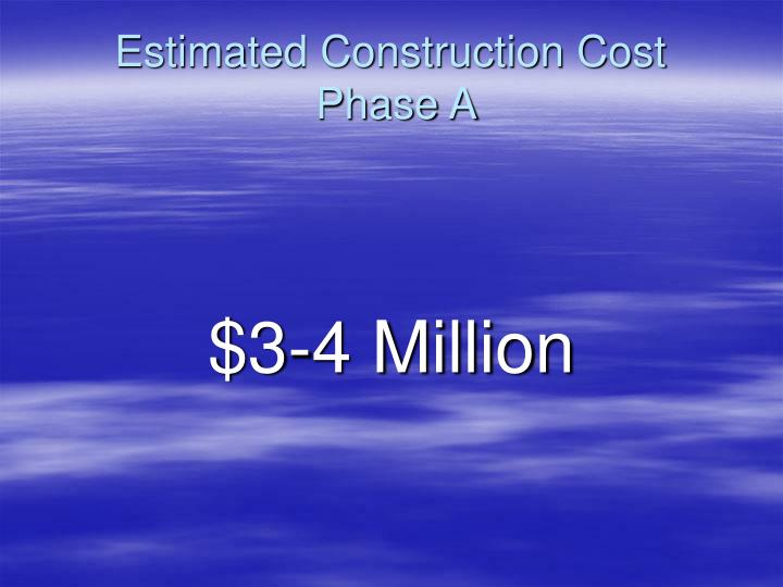 Estimated Construction Cost