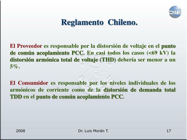 Reglamento  Chileno.