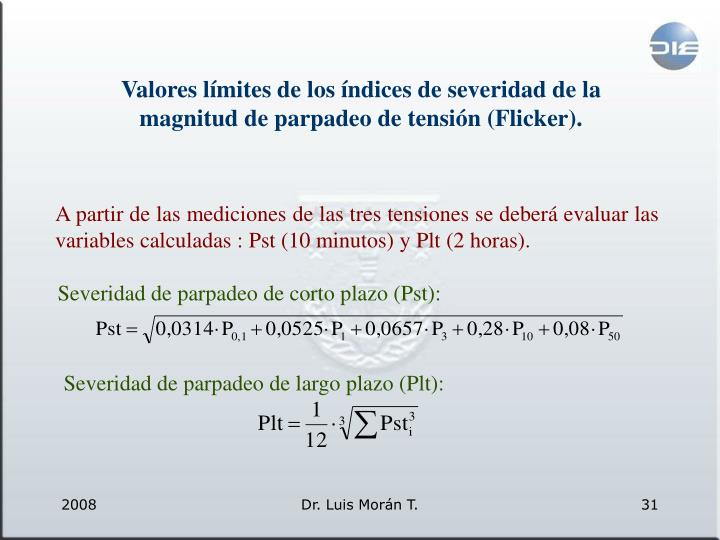 Valores límites
