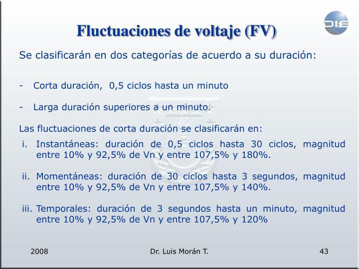 Fluctuaciones de voltaje (FV)