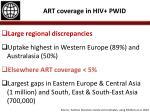 art coverage in hiv pwid