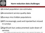 harm reduction data challenges