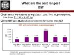 what are the cost ranges ost