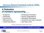 american national standards institute ansi1