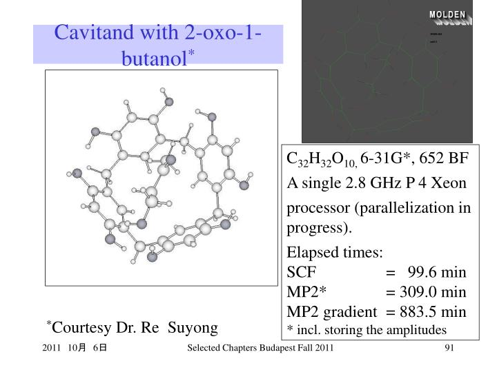 Cavitand with 2-oxo-1-butanol