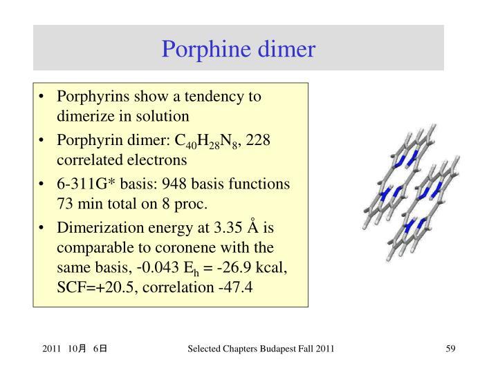 Porphine dimer