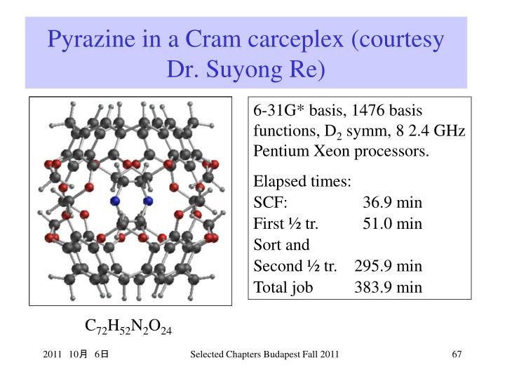 Pyrazine in a Cram carceplex (courtesy Dr. Suyong Re)