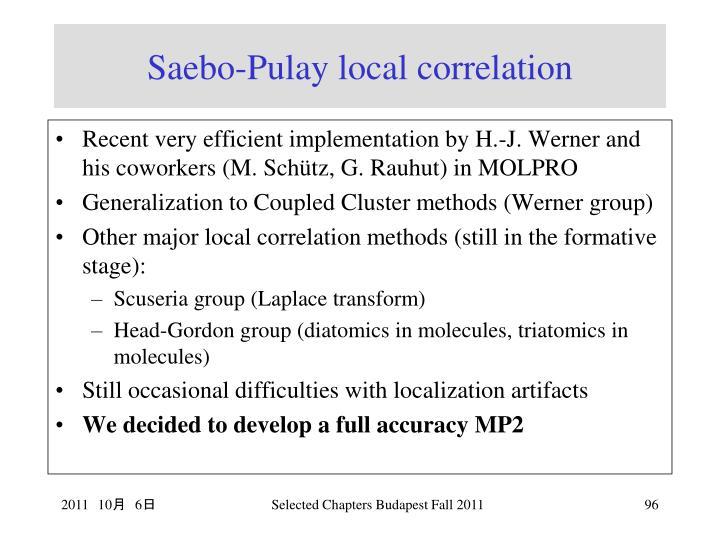 Saebo-Pulay local correlation