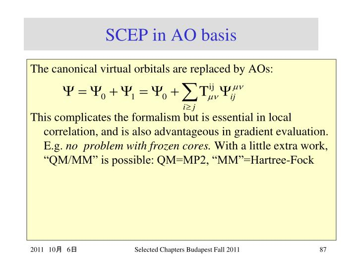 SCEP in AO basis