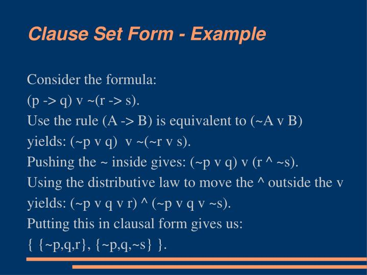 Consider the formula: