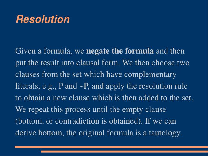 Given a formula, we