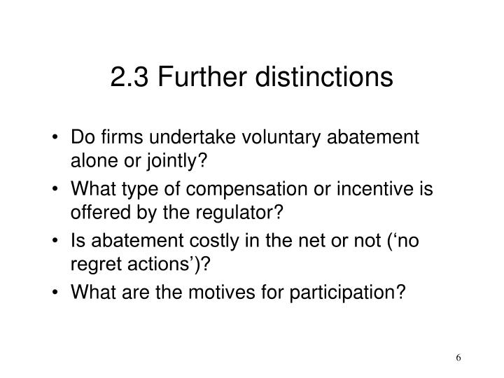 2.3 Further distinctions