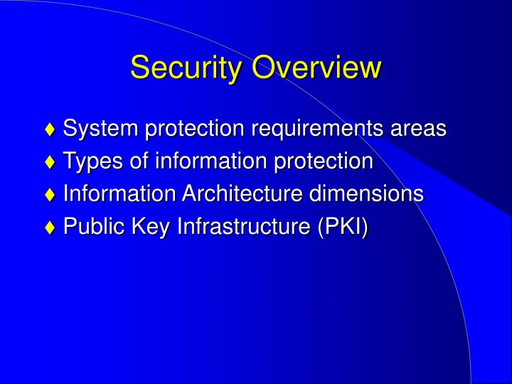 security overview n.