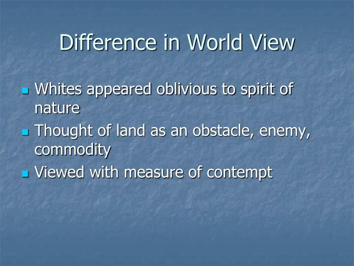 Difference in World View