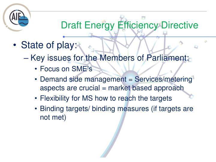 Draft energy efficiency directive1