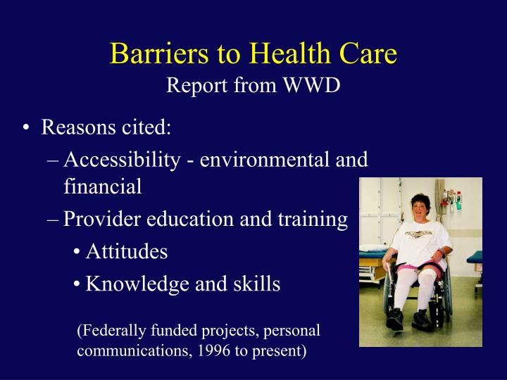 Barriers to Health Care