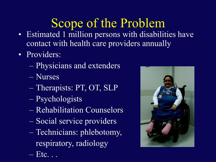 Scope of the problem1