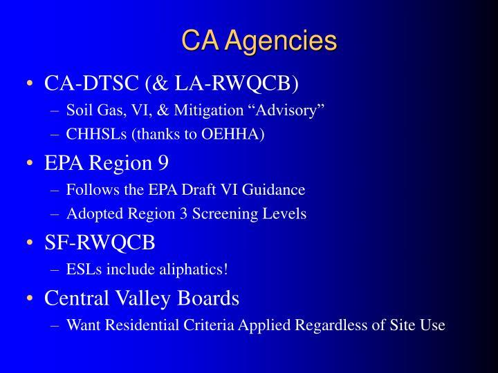 CA Agencies