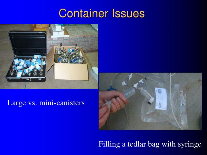 Container Issues