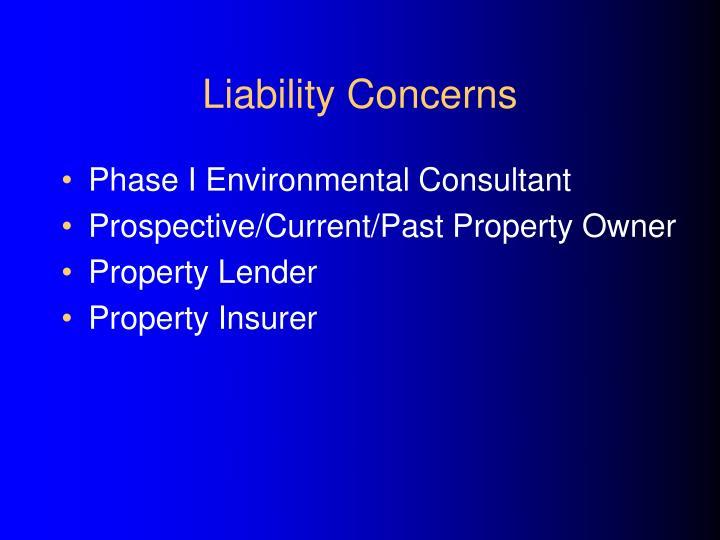 Liability Concerns