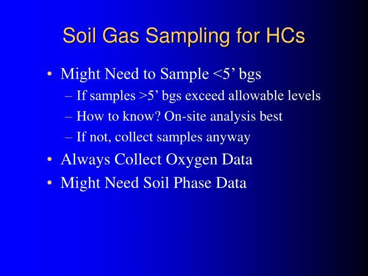 Soil Gas Sampling for HCs