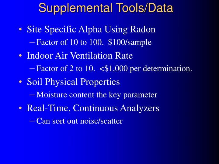 Supplemental Tools/Data
