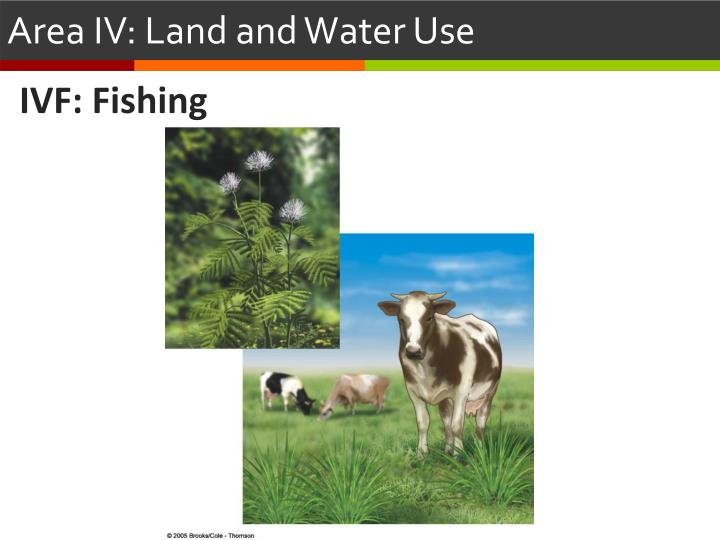 area iv land and water use n.
