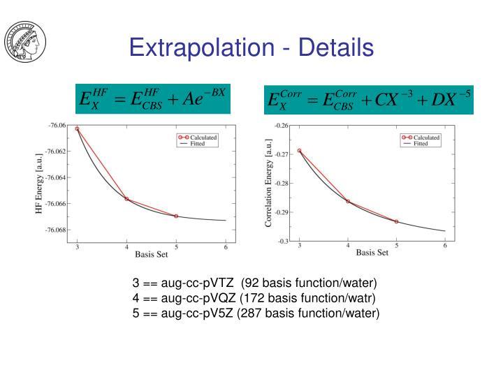 Extrapolation - Details