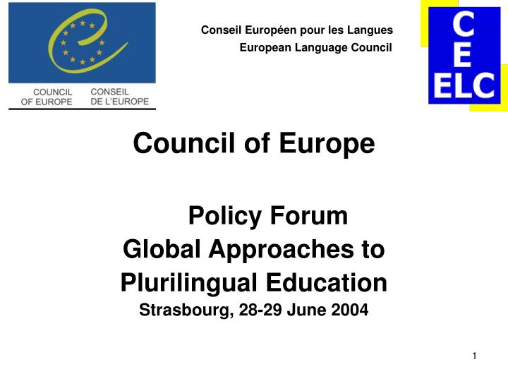 conseil europ en pour les langues european language council